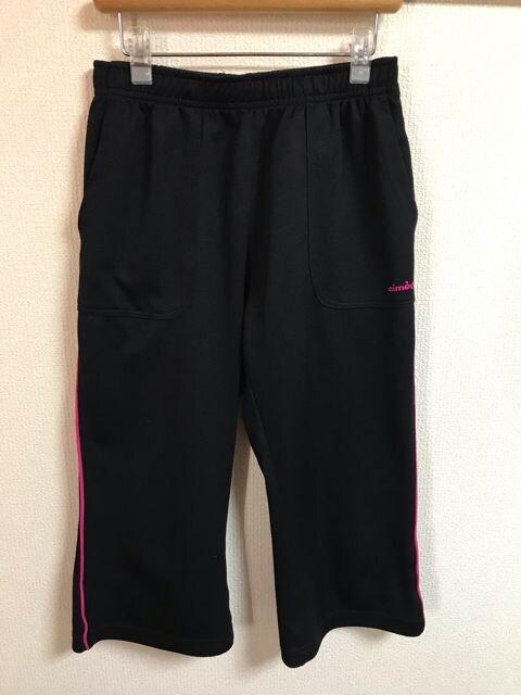 ★黒×ピンクライン ハーフジャージパンツ  M★  < 女性ファッションの