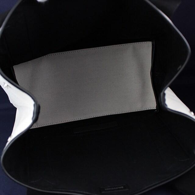 バレンシアガ カバス トートバッグ ハンドバッグ ホワイト×ブラック k778 < ブランドの