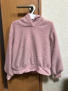 GU購入 ピンク パーカー130