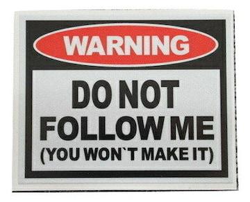 警告 WARNING  ステッカー
