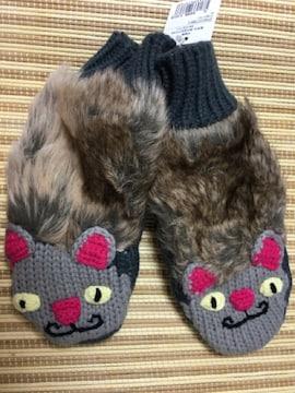 【送料無料】チチカカ 手袋 猫柄(アニマルミトン ネコ)