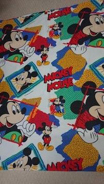 ディズニー フラットシーツ USED 約220×160 ミッキー