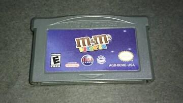 GBA m&m's BREAK'EM /ゲームボーイアドバンス 北米版 海外版 日本未発売