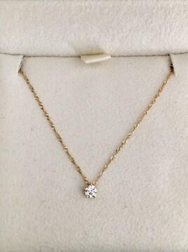 AHKAH アーカー ダイヤモンド スターリー ネックレス K18 0.10ct