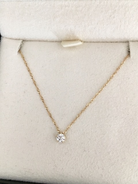 AHKAH アーカー ダイヤモンド スターリー ネックレス K18 0.10ct < ブランドの