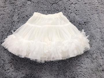 美品★チュールスカート110