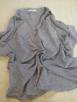 AZUL BY MOUSSY/襟付きとろみシャツプルオーバー/美品