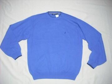 63 男 NAUTICA ノーティカ 青 セーター XL