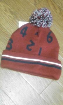 ナンバーロゴ〓ニット帽〓タグ付き〓