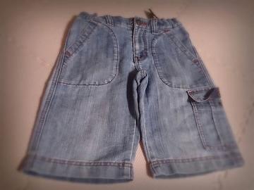120 UNIQLO デニム薄地 短パンツ