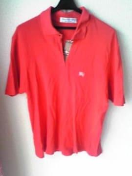 BURBERRYS 赤色ポロシャツ Lサイズ イギリス製 バーバリー 即決