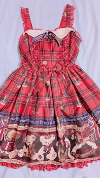 AngelicPretty British Bear JSK アカ