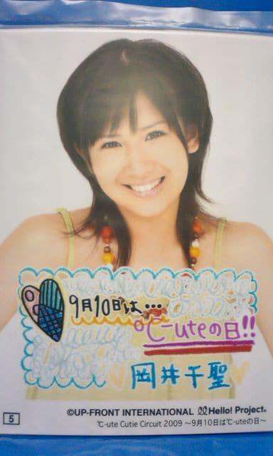 2009℃-uteの日イベント コレクション写真・L判1枚 #5/岡井千聖  < タレントグッズの