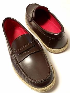 未使用メンズメルローズ紳士靴ローファーsafariドレスシューズLEONカスタニエール牛革