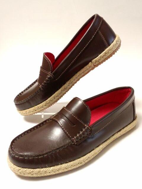 未使用メンズメルローズ紳士靴ローファーsafariドレスシューズLEONカスタニエール牛革 < ブランドの