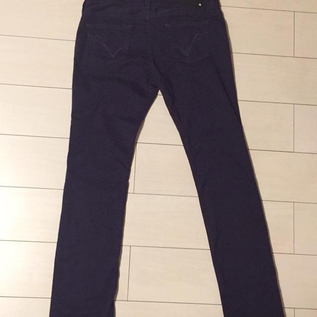 ru jeans☆紫☆パープルカラーパンツ☆ストレートパンツ < ブランドの