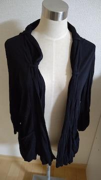 七分袖 カーディガン 大きいサイズ3L 黒 新品