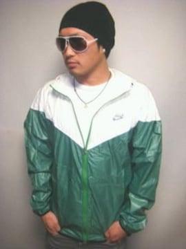 【美色】NIKEフード付ナイロンジャケットシャイニーグリーンXL♪緑ナイキ