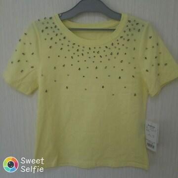 新品 半袖 Tシャツ S-M 飾りジャラジャラ♪