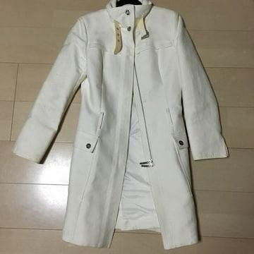 ラストシーン Mサイズ 白 ロングコート 難有り