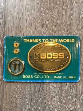 Boss ボス 記念 プレート キーホルダー 新品 未使用 非売品 レア