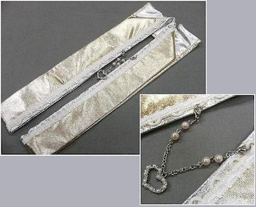 わけあり品 かわいいハートの飾りつき 金・銀伊達衿 新品
