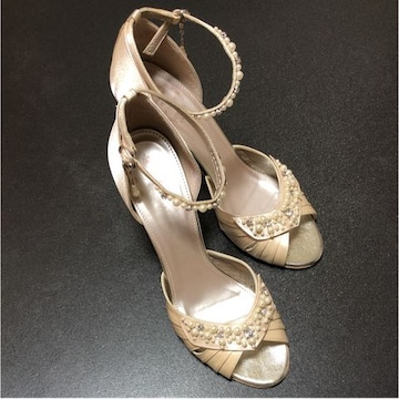 中古美品日本製 ストロベリーフィールズ フォーマル 靴 サンダル