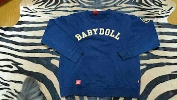 BABY  DOLL/ベビードール Men's ネイビー スウェット トレーナー