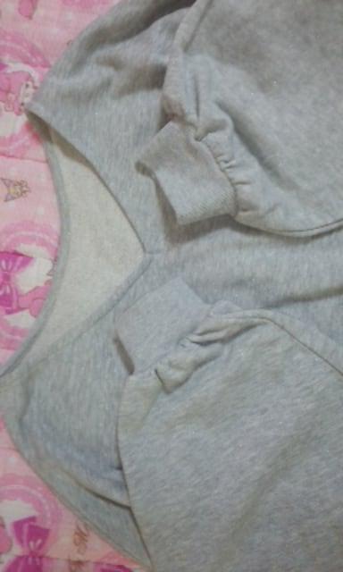 mystic広めネックラインボリューム袖が素敵なトレーナーフリーサイズ < ブランドの