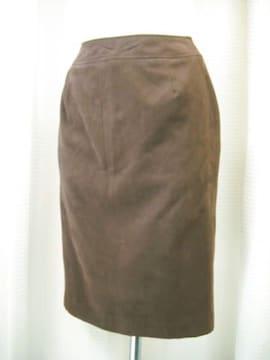 【二葉】【未使用品】スウェード調のスカートです