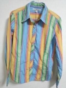 トミー ストライプシャツ 12 レインボー系