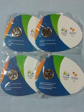 ◎リオデジャネイロ オリンピック・パラリンピック 公式記念コイン4枚セット◎リオ 2016