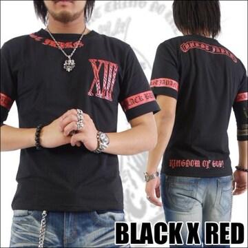 メール便送料無料【MAD BURST JAPAN】70562Tシャツ黒赤M