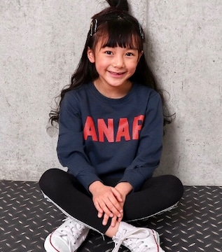 新品ANAPKIDS☆120 ロゴ トレーナー ネイビー アナップキッズ