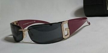 正規美 Gackt着 同型 ドルチェ&ガッバーナ DGロゴメタルスポーティサングラス黒×金