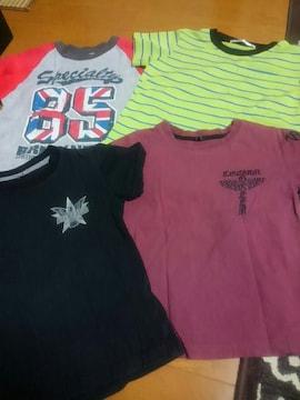 ☆USED☆半袖Tシャツ 4枚セット☆110