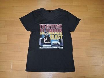 ヒステリックグラマーHYSTERIC GLAMOURカットソー黒Tシャツ