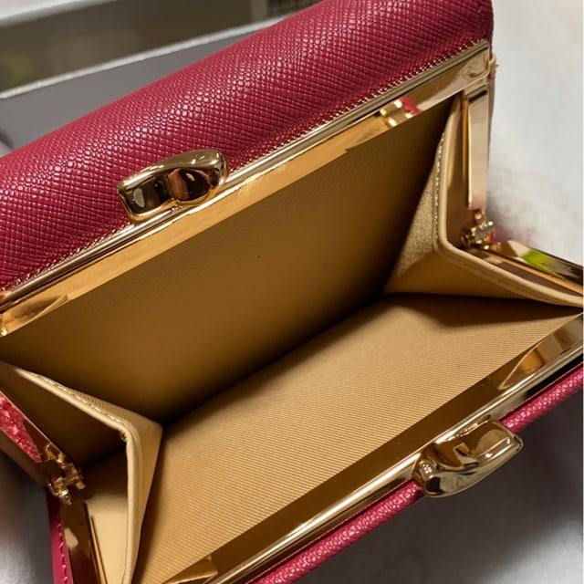 ヴィヴィアンウエストウッドオーブ赤三つ折りがま口財布ミニ財布 < ブランドの
