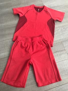 UNIQLOキッズまとめ売りDLY-EX半袖T110短パンSセット赤