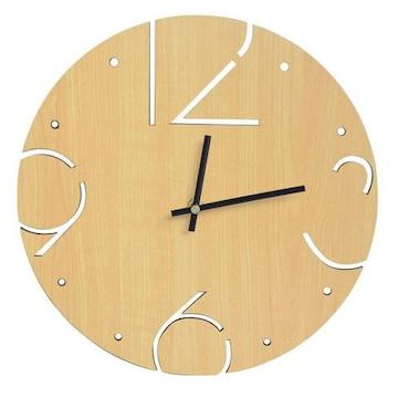 壁掛け時計 アナログ01-brown