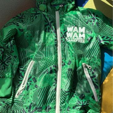WAM WAM☆グリーンカジュアルジャンパー★サイズ110