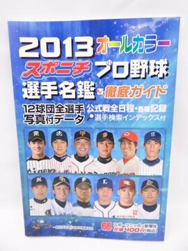 スポニチプロ野球選手名鑑 2013