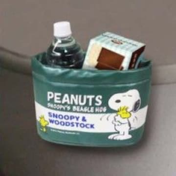 スヌーピー取り付け簡単★車内の小物入れに便利*ドライブポケット