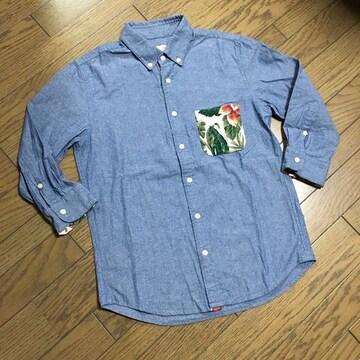 美品NANO UNIVERSE シャンブレーシャツ ナノユニバース