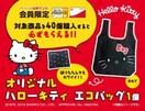 ローソン100☆送料無料!非売品☆キティ エコバッグ(^o^)