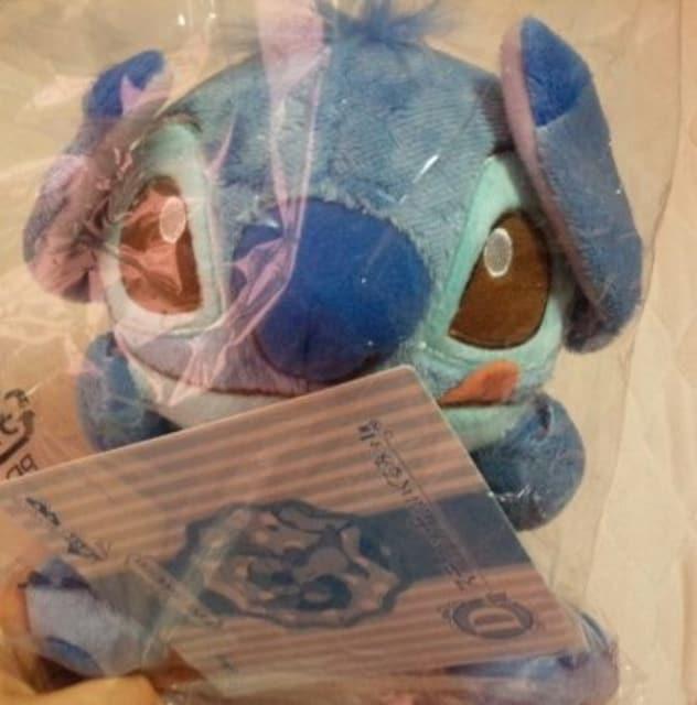ディズニー一番くじスイーツカラーD賞スティッチぬいぐるみ  < おもちゃの