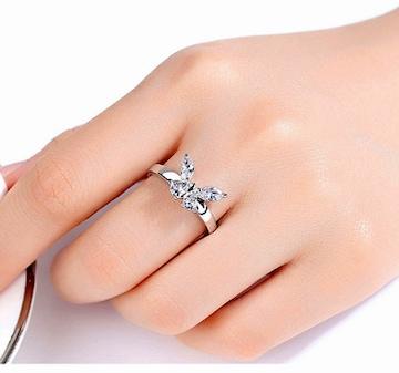 新品[7881]蝶の可愛い指輪リング(日本サイズ12号)インポート