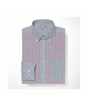 ユニクロ EFCブロードシャツ 長袖 クレイジーパターン M新品