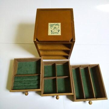 木製★noisette BEARS★小物入れ 中古品