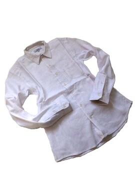 綿麻リネンストレッチボタンダウンシャツXLホワイト白新品※2点送料無料